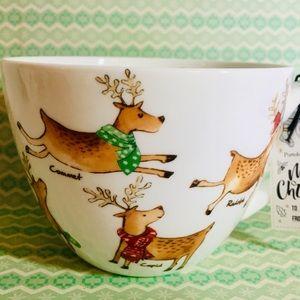 Santa's Reindeer Tender Woodland Bone China Mug